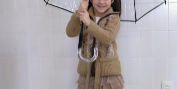 Fotos con paraguas y proyecto sobre grandes ineventos