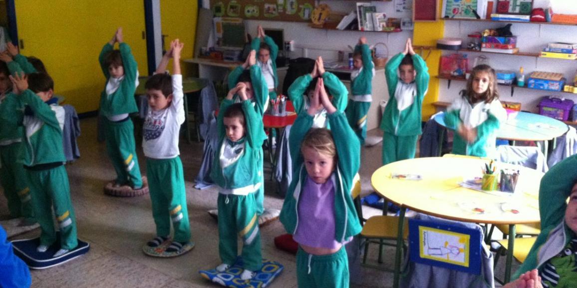 ¡Primer día de yoga!